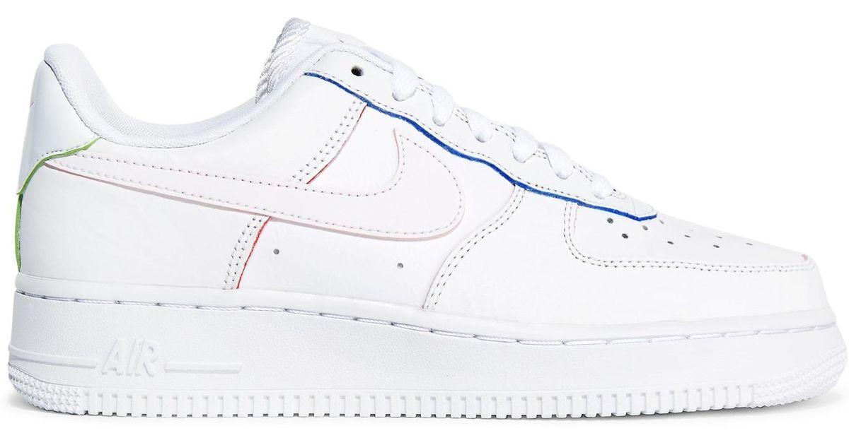 Lisse Coloris Nike Air White 1 Et En Force Cuir Baskets Texturé 8w0vmNOn