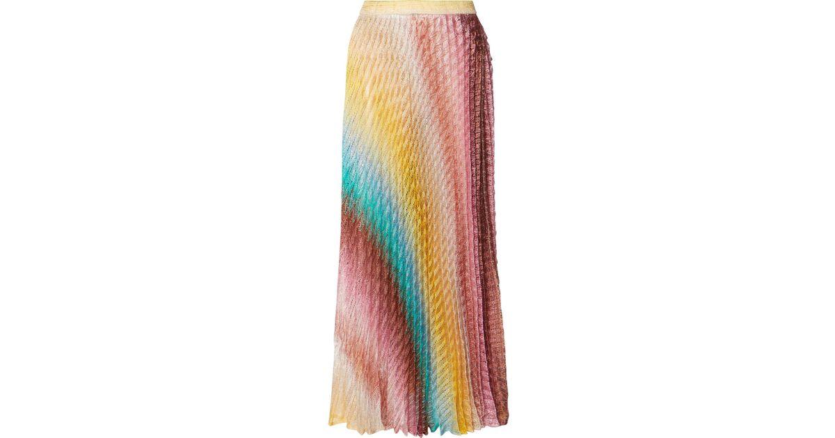 454a0955589d88 Lyst - Missoni Mare Metallic Crochet-knit Maxi Skirt in Yellow