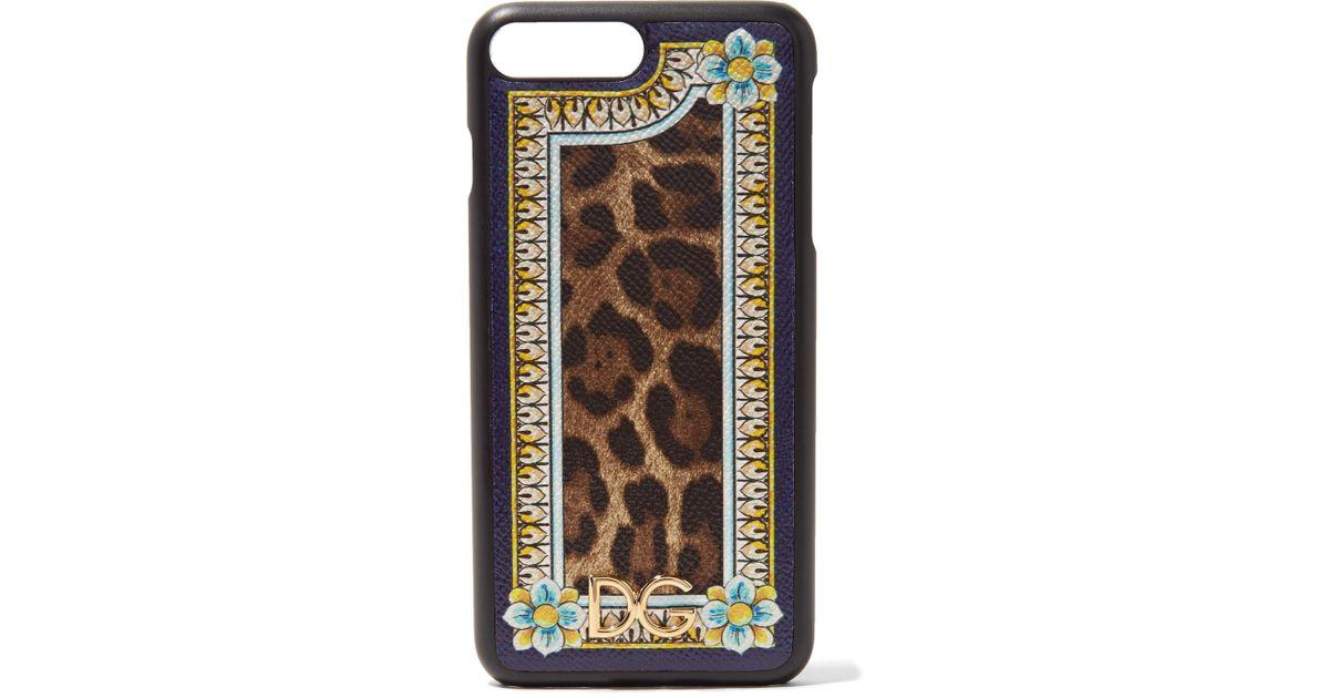 leopardo estampado de cuero Estampado Dolce de Plus Gabbana de Iphone con Funda 7 textura AqSfFwEPnx