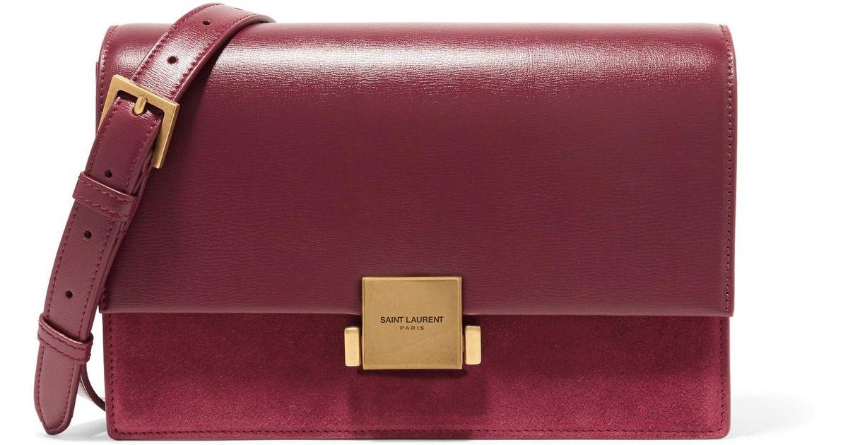 a7d9ba6c2d Saint Laurent Multicolor Bellechasse Leather And Suede Shoulder Bag