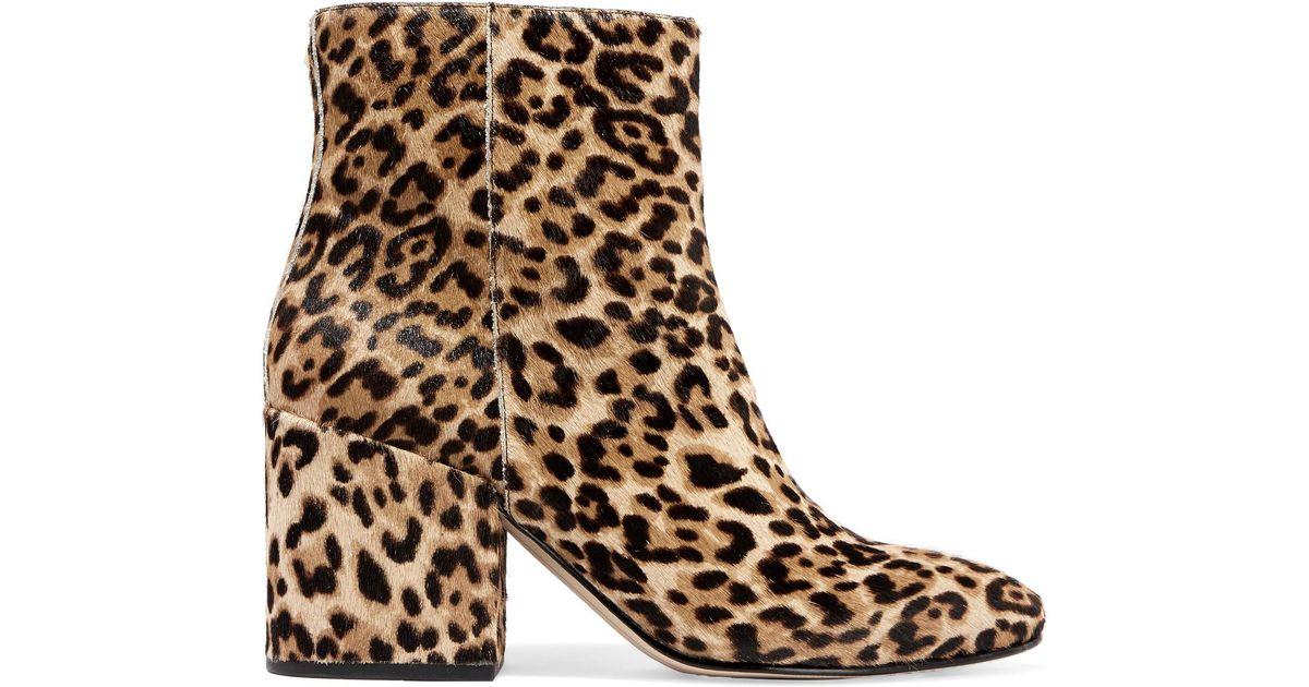 5dcd59037 Lyst - Sam Edelman Taye Leopard-print Calf Hair Ankle Boots in Brown
