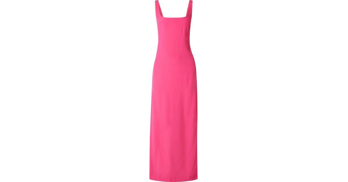 Rizzo Cady Maxi Dress - Fuchsia Staud 4KeBF0M