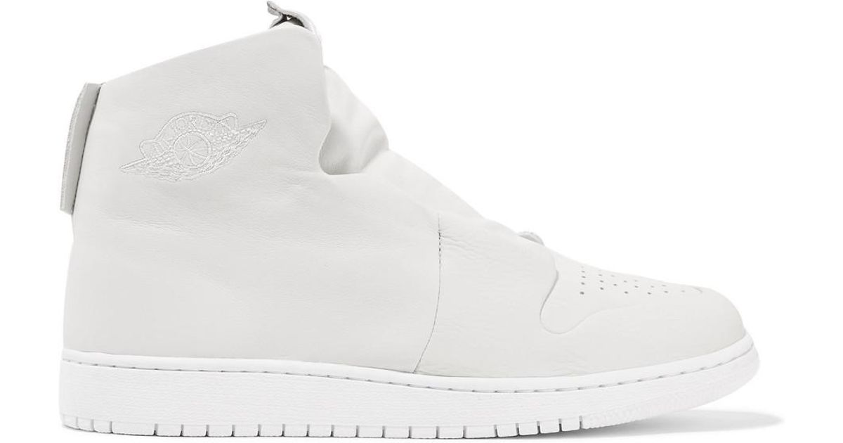 5b44f0e4ce58 Lyst - Nike The 1 s Reimagined Air Jordan 1 Sage Suede And Leather Slip-on  High-top Sneakers in White