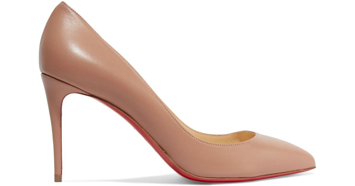 4f4a863dc8e6 Christian Louboutin Pigalle Follies 85 Leather Pumps in Natural - Lyst