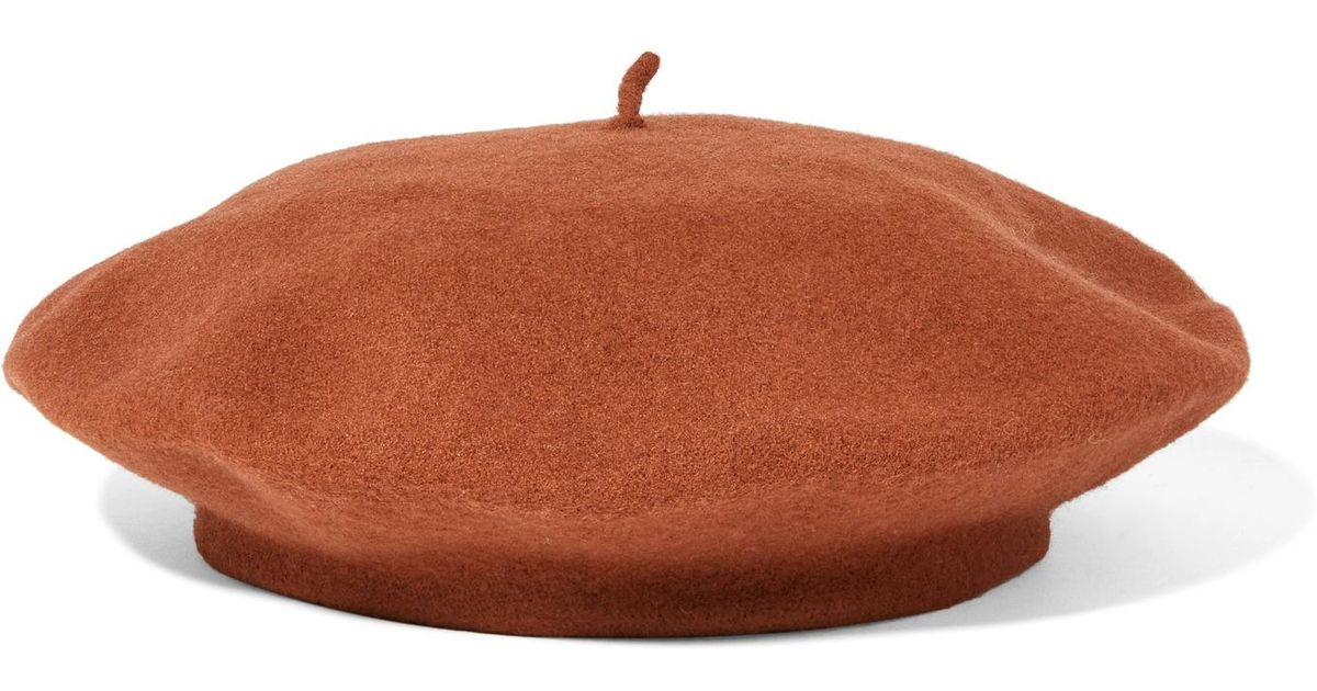 401052f7d6687 Clyde Rohmer Wool-felt Beret in Brown - Lyst