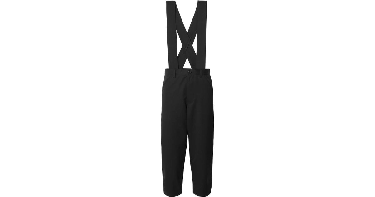 Cropped Wool-twill Overalls - Black Comme Des Garçons 4R66hSa