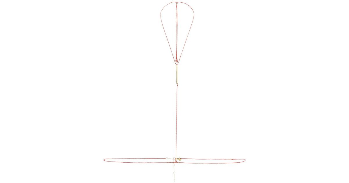 Lucky Gold-plated And Woven Cotton Body Chain - Red Arme De L'Amour CNOKVg