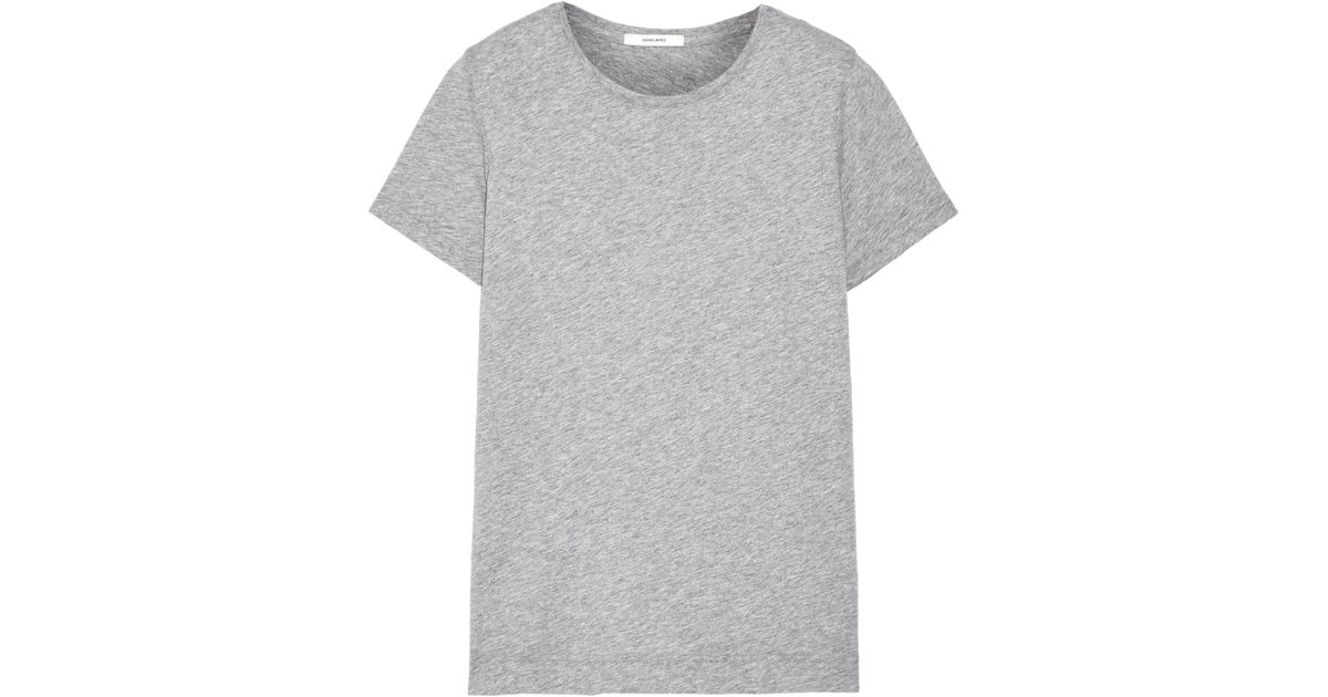 Lyst adam lippes pima cotton t shirt in gray for Adam lippes t shirt