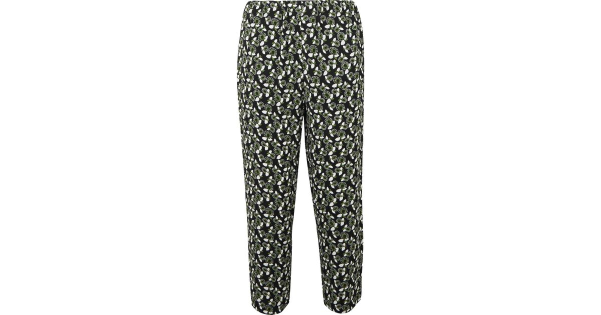 Outlet Store For Sale Cheap Footlocker Pictures Printed crêpe trousers Marni Clearance Marketable Eastbay iu4JIWn