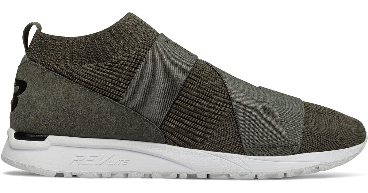 New Balance Suede New Balance 247 Knit Shoes in Green for Men - Lyst