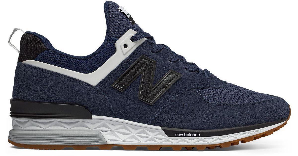 cheap for discount 31520 50c94 New Balance Blue 574 Sport V1 Sneaker for men