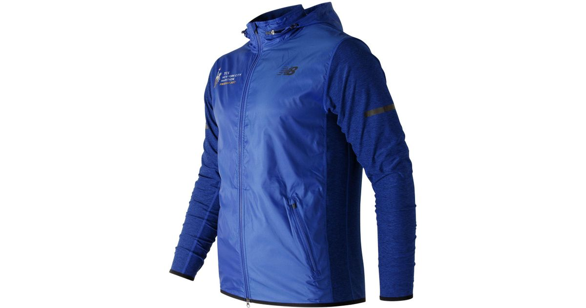 Lyst - New Balance Nyc Marathon Finisher In Transit Jacket in Blue for Men