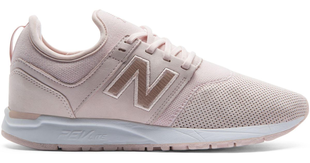 New Balance Leather Nubuck 247 in Pink