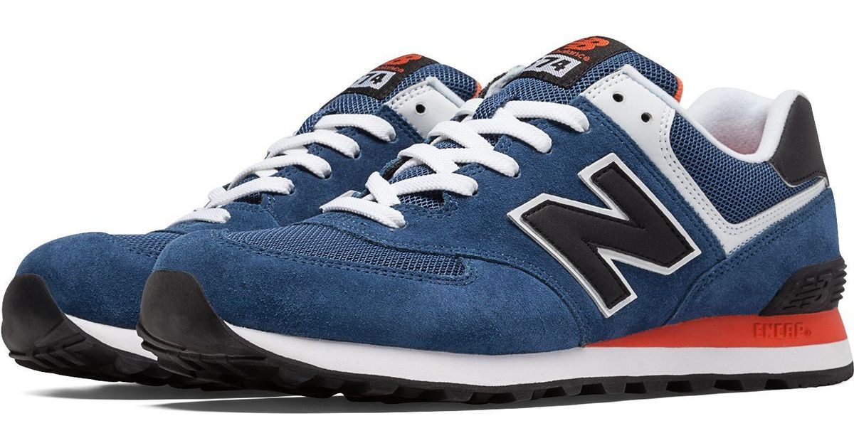 competitive price 7d032 f5cc4 ... huge inventory 608da b9c0f New Balance 574 Canvas in Blue for Men - Lyst  ...