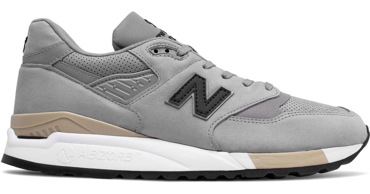 quality design 0fd93 4ed38 New Balance Gray New Balance 998 Nubuck Shoes for men