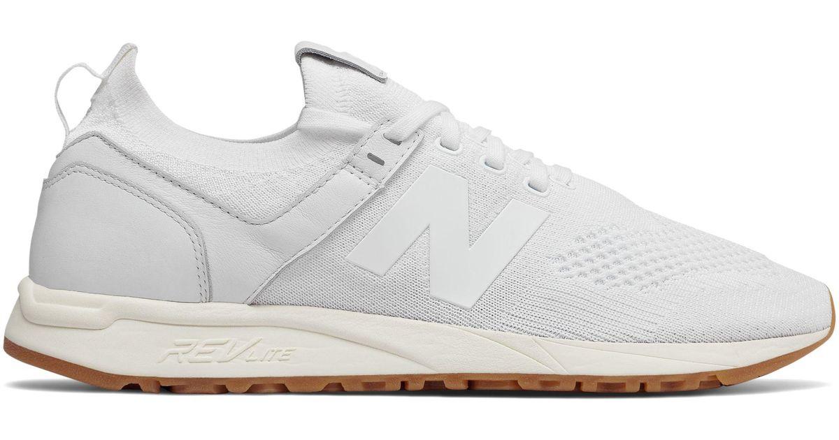 New Balance White 247 Decon for men