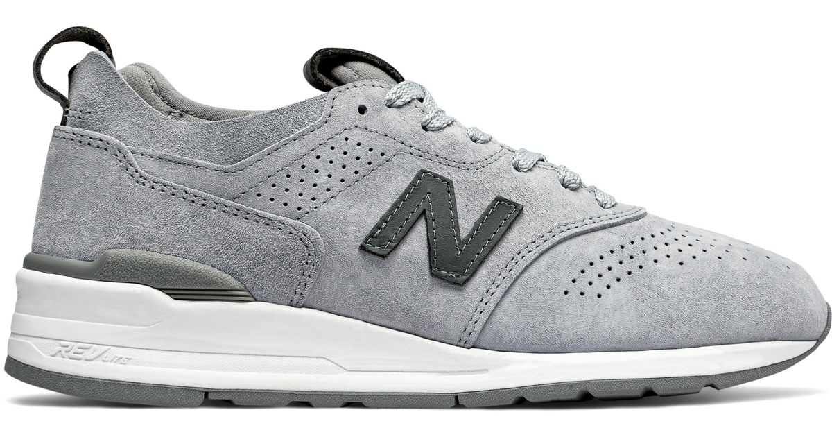 servidor civilización Dinkarville  New Balance Suede New Balance 997r Shoes in Grey (Grey) for Men - Lyst