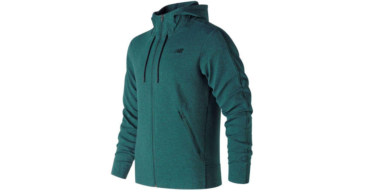 a1b9d38f0718a New Balance Mjluxe Full Zip Fleece Jacket in Green for Men - Lyst