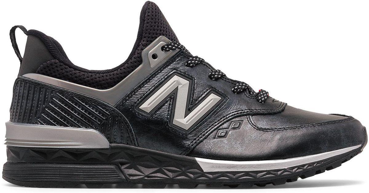 New Balance Leather 574 Sport Black