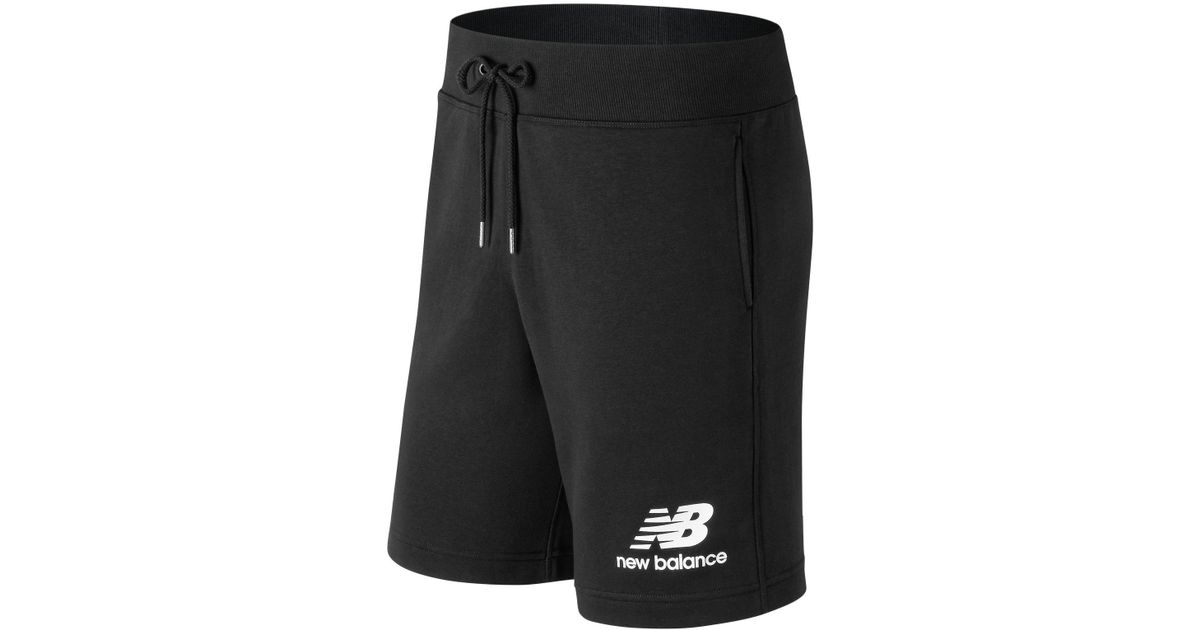 e3f30e75 Lyst - New Balance Essentials Stacked Logo Short in Black for Men