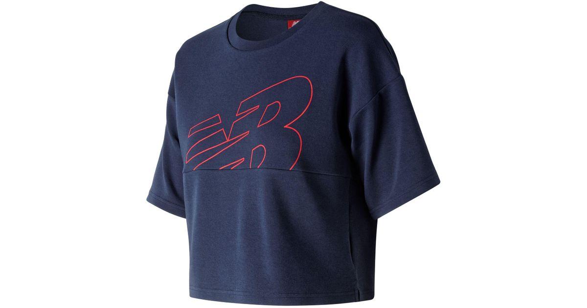 429f8aaae7 New Balance Blue Nb Athletics Crop Jersey