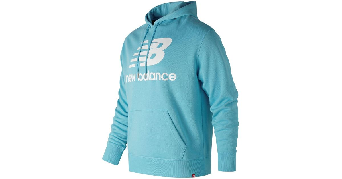 57dec322300f4 New Balance New Balance Essentials Stacked Pullover Hoodie in Blue for Men  - Lyst