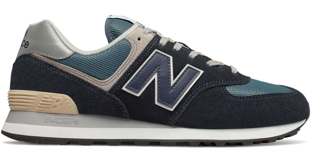 New Balance 574 in Navy/Blue (Blue) for Men - Lyst