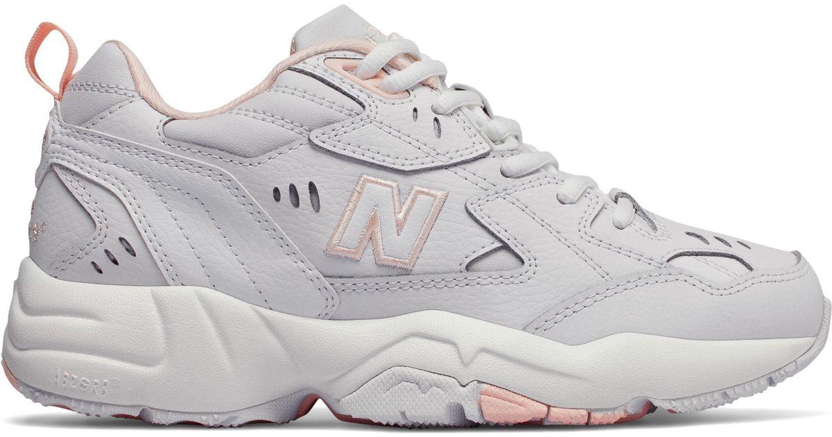New Balance White 608