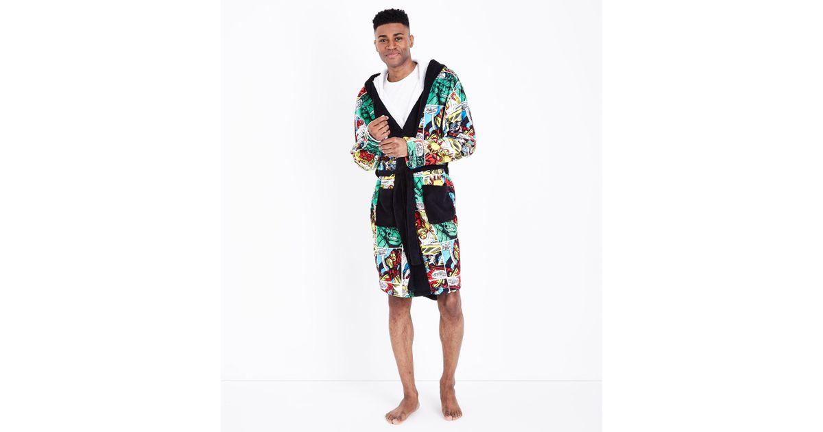 New Look Multi Colour Marvel Dressing Gown for Men - Lyst