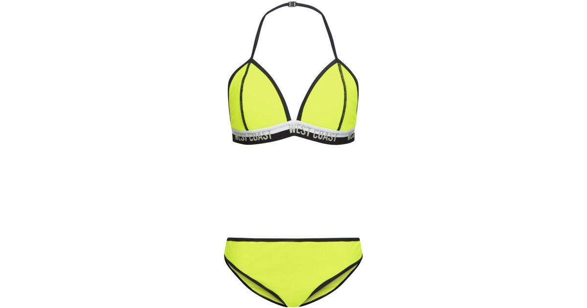 elegant and sturdy package super specials prevalent New Look Girls Yellow Neon West Coast Bikini Set