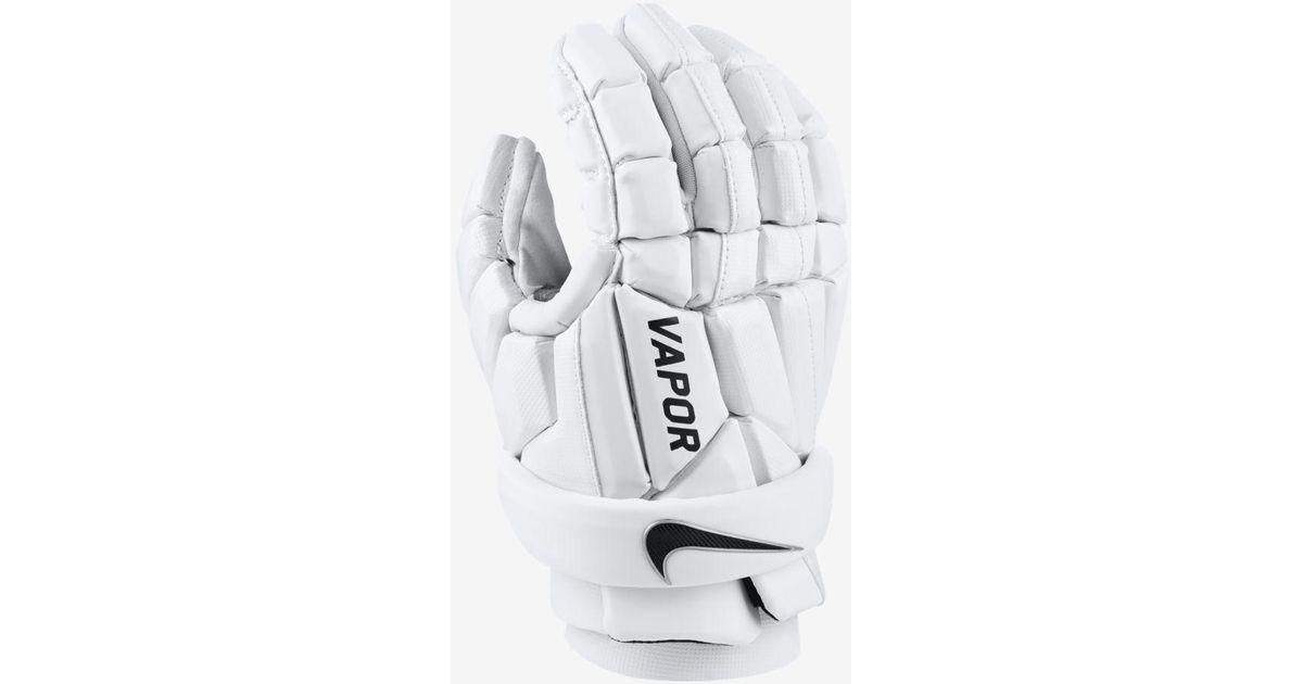 Nike White Vapor Field Lacrosse Gloves for men