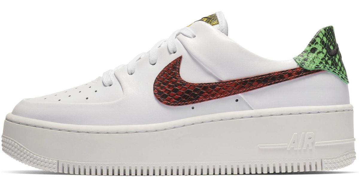Air Sage Low Shoe Animal Force White Premium Nike 1 cq35RAL4j