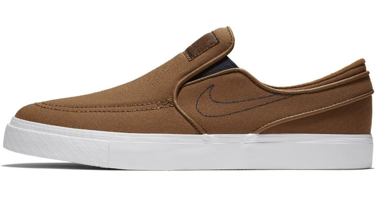 bc520131c911 Lyst - Nike Sb Zoom Stefan Janoski Slip-on Canvas Men s Skateboarding Shoe  in Brown for Men