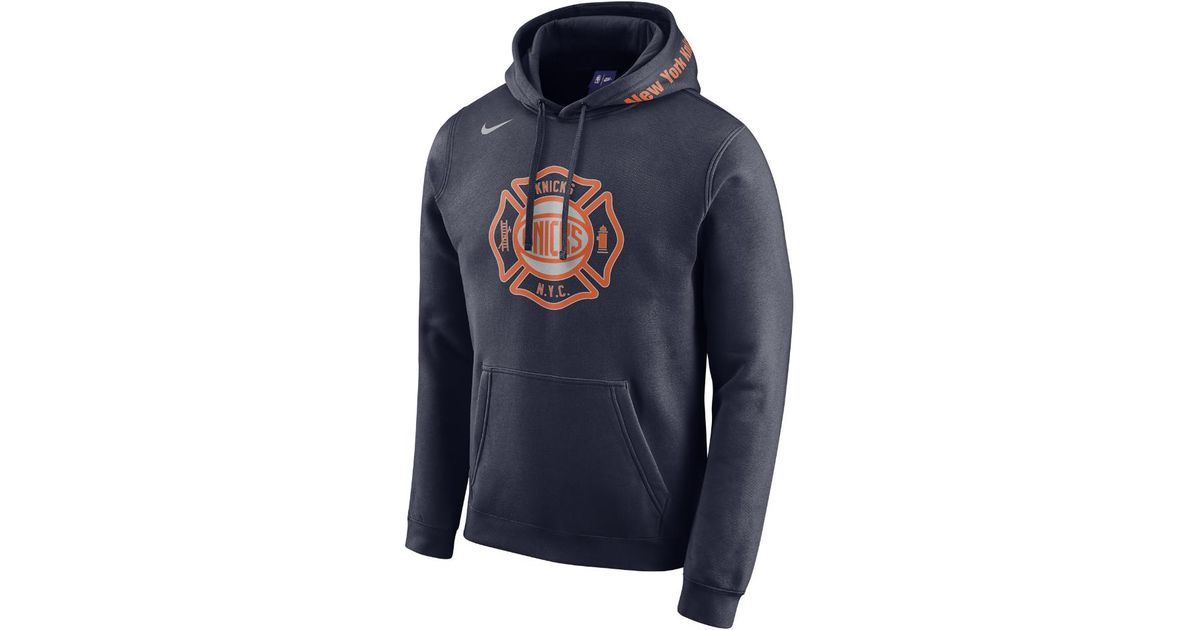 sports shoes 02512 1f421 Nike Blue New York Knicks City Edition Men's Nba Hoodie for men