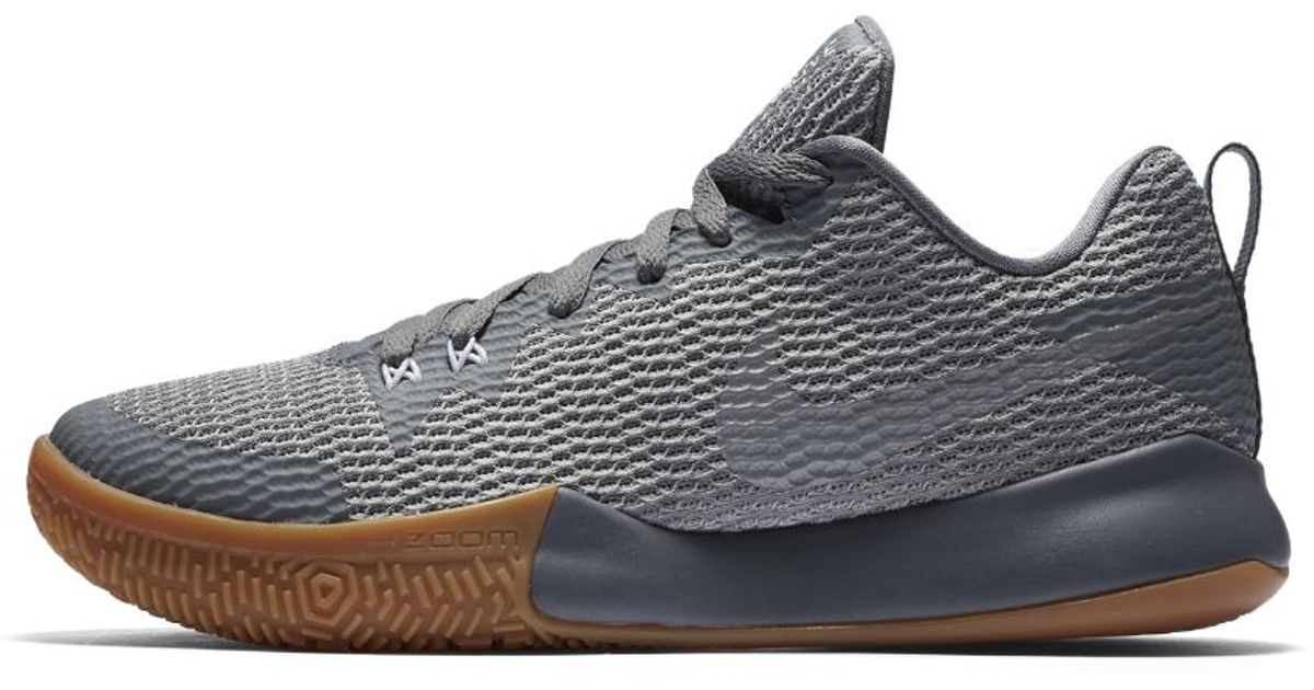 ... lyst nike zoom live ii mens basketball shoe in gray for men e09c59192