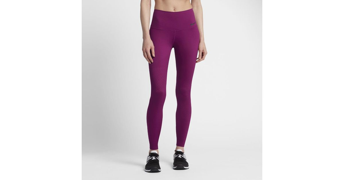 official images special section skate shoes Nike Purple Zonal Strength Women's Training Tights