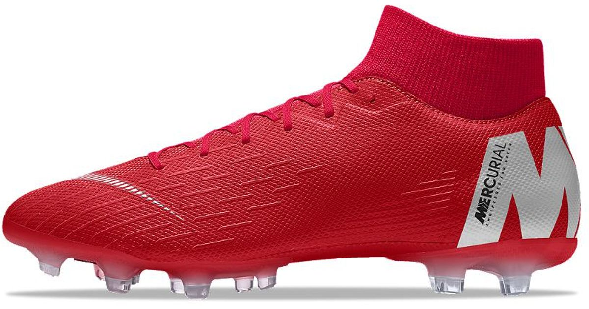 cheap for discount 7bffc df994 ... free shipping lyst nike mercurial superfly vi academy mg id multi  ground soccer cleats in red