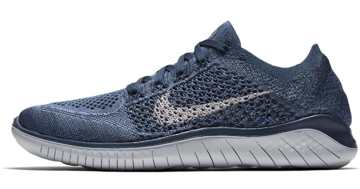 wholesale dealer 9de82 32c3a Nike Free Rn Flyknit 2018 Women's Running Shoe in Blue - Lyst