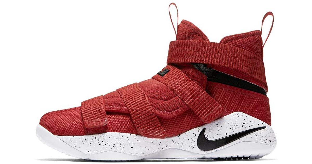 outlet store ce14a 7241c Nike Red Lebron Soldier Xi Flyease (extra-wide) Basketball Shoe for men
