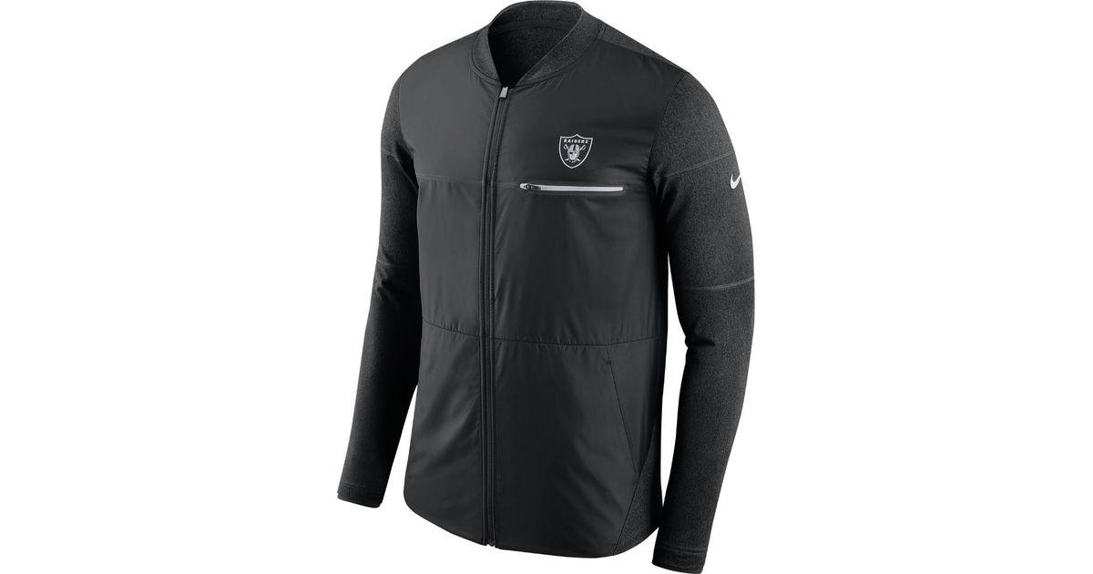 new arrivals 8ed6d 018cc Nike Black Shield Hybrid (nfl Raiders) Men's Full-zip Jacket for men