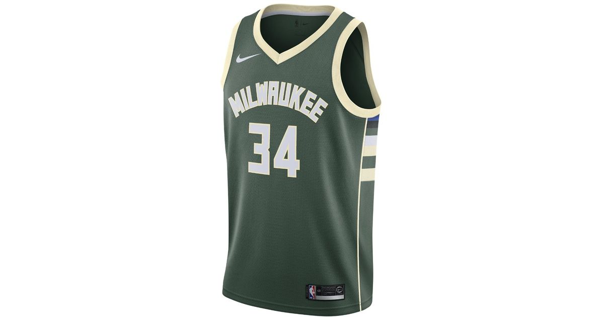 805ad3aa9d9 Lyst - Nike Giannis Antetokounmpo Icon Edition Swingman Jersey (milwaukee  Bucks) Men s Nba Connected Jersey in Green for Men