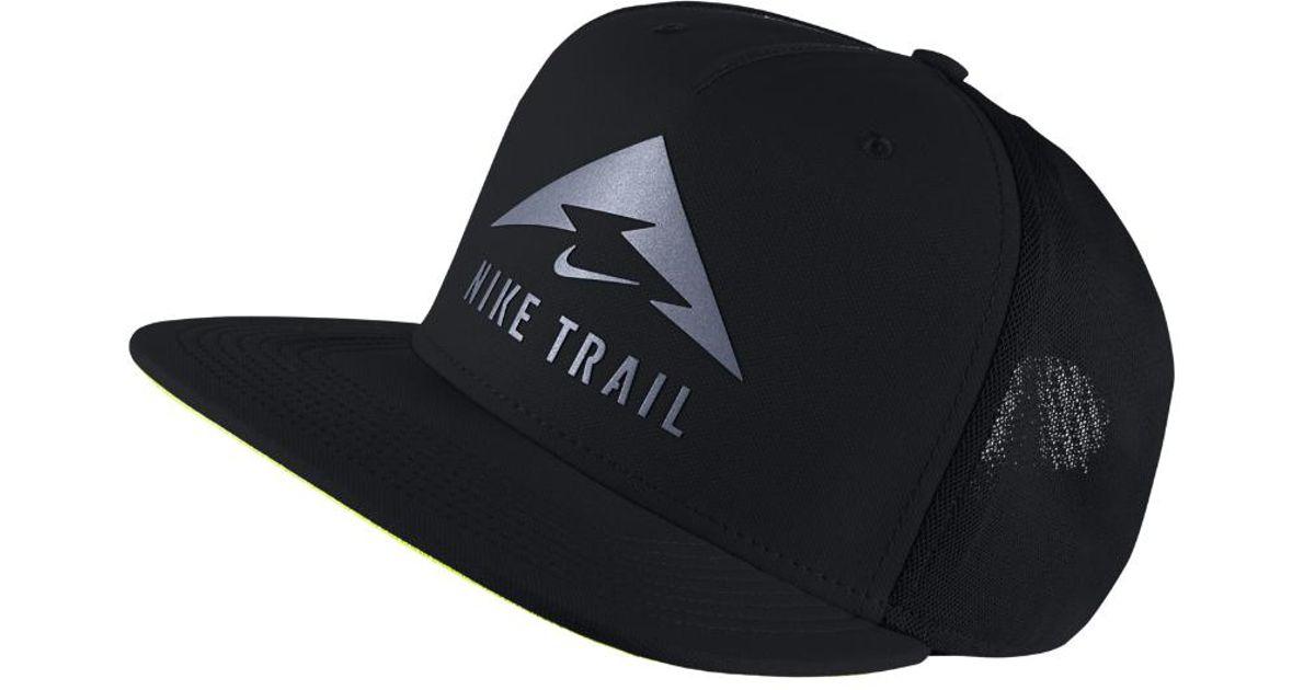 1f9e5c9a5ce ... france lyst nike trail aerobill trucker hat black in black for men  ec63f 18857