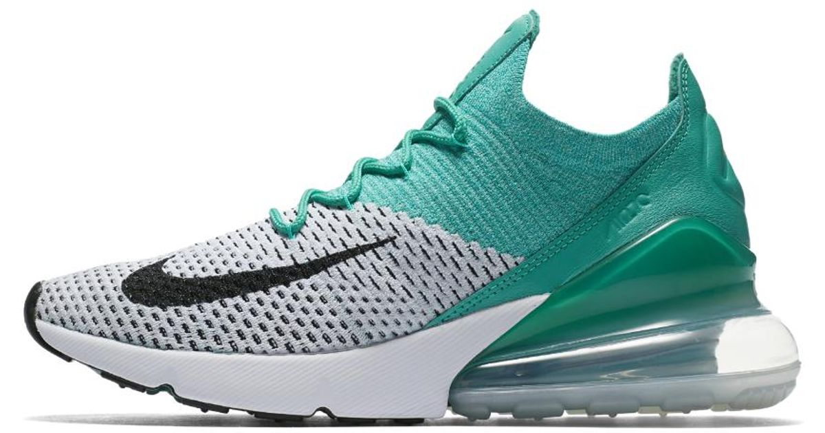 info for 55f86 5b58a Lyst - Nike Air Max 270 Flyknit Women s Shoe in Green
