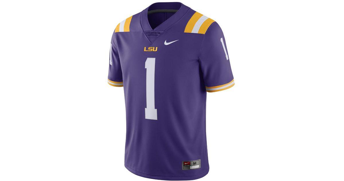 wholesale dealer 91b1d b13e4 Nike - Purple College Limited (lsu) Men's Football Jersey for Men - Lyst