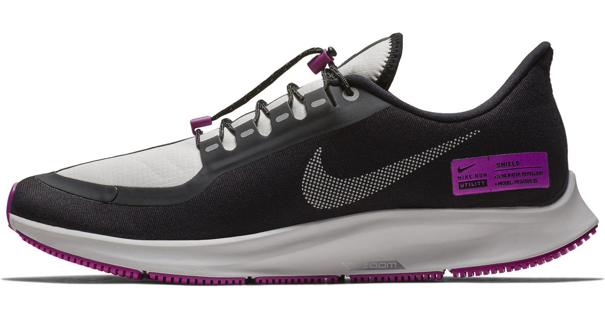 59b9569038 Nike Air Zoom Pegasus 35 Shield Nrg Water-repellent Running Shoe in Black  for Men - Lyst