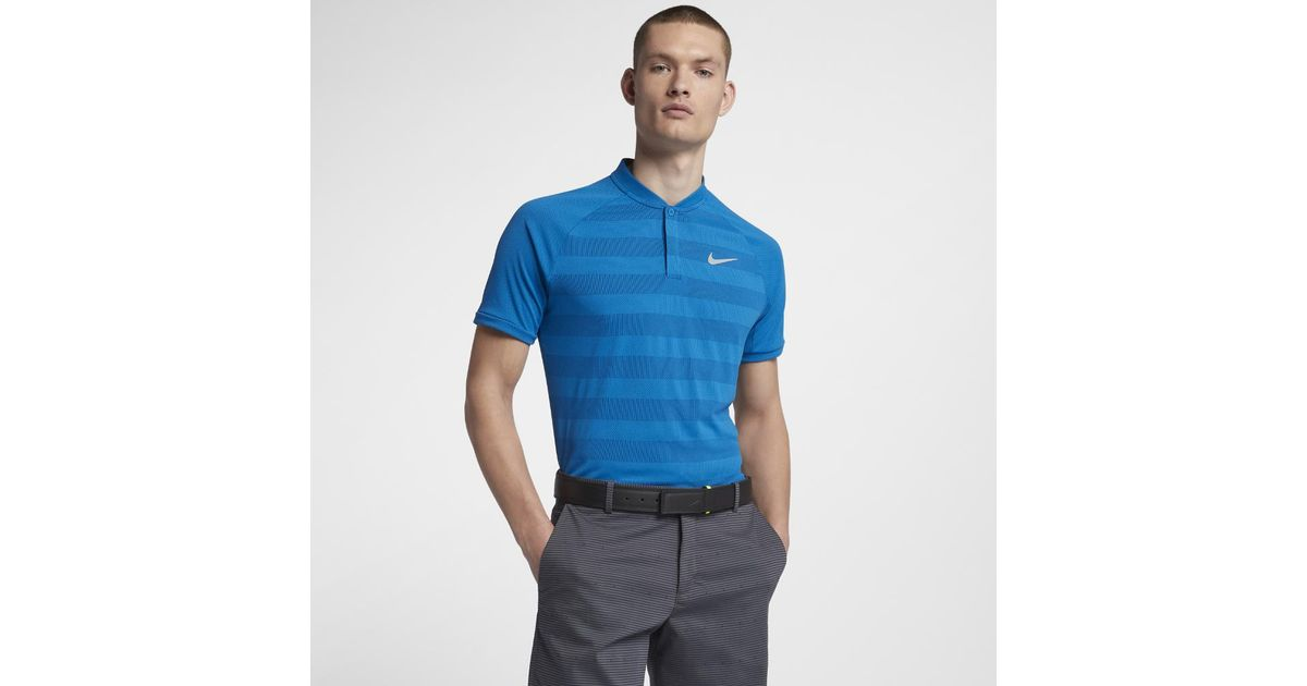 e0b890bfcf Nike Zonal Cooling Momentum Men's Slim Fit Golf Polo Shirt in Blue for Men  - Lyst