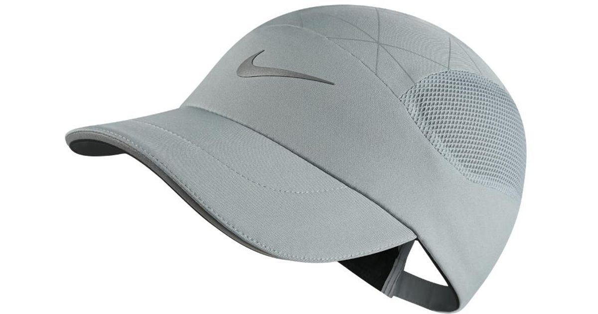 buy the sale of shoes check out Nike Gray Aerobill Tailwind Adjustable Running Hat (grey) for men