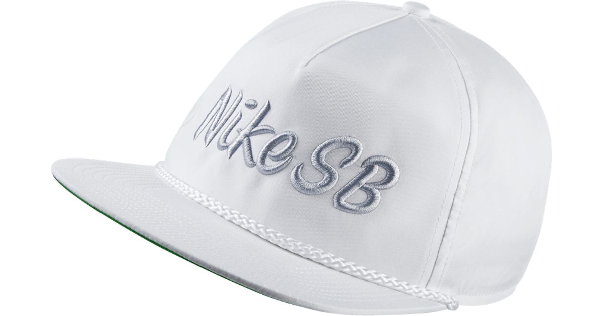 24bad3648 Nike Sb Unstructured Dri-fit Pro Adjustable Hat (white) for men
