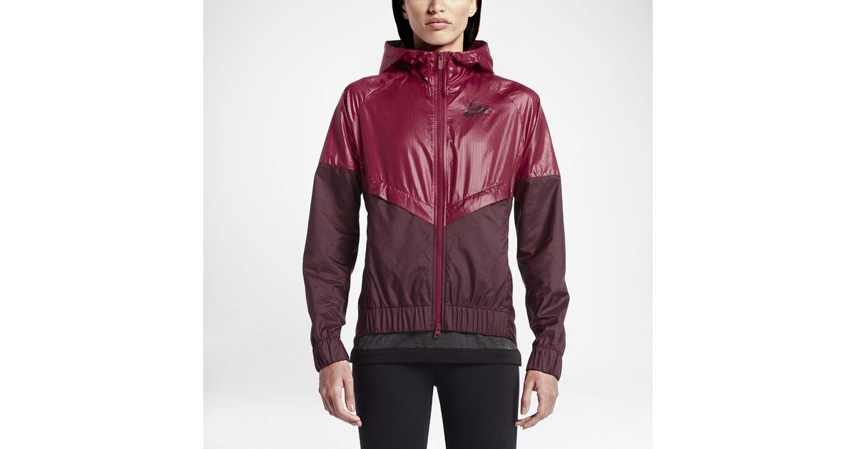 523a52129a Lyst - Nike Sportswear Windrunner Women s Jacket in Red