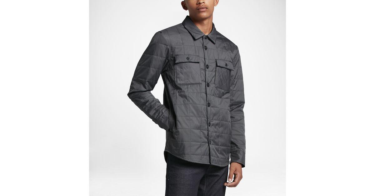 9a4d68552da3 Lyst - Nike Sb Holgate Winterized Men s Long-sleeve Shirt in Gray for Men